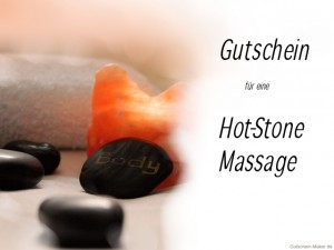 Hot Stone Massage Gutschein